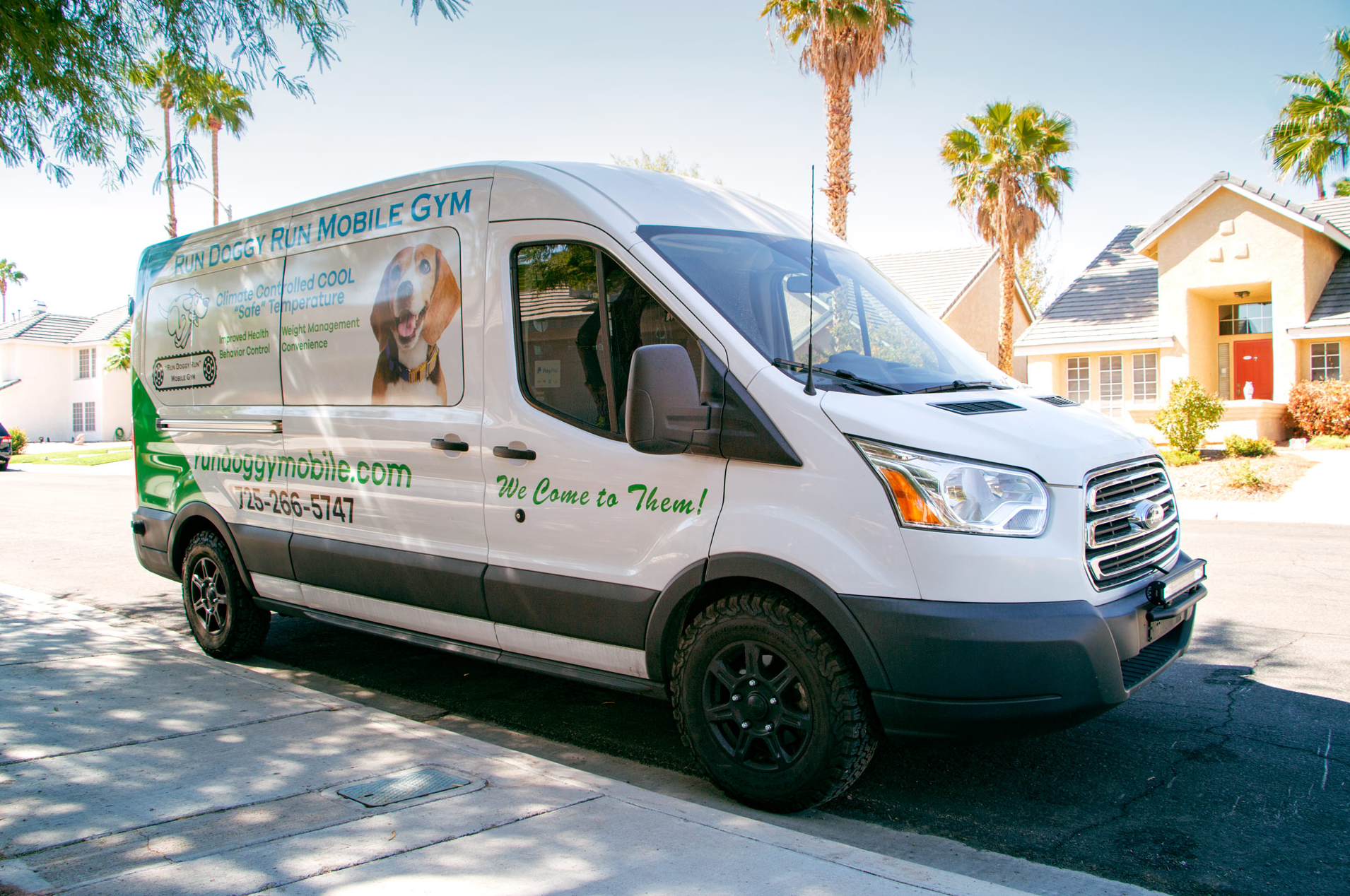 mobile dog gym van